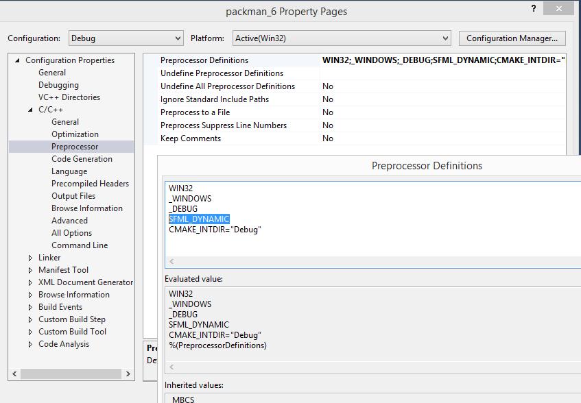 Подключение SFML к Visual Studio 2015